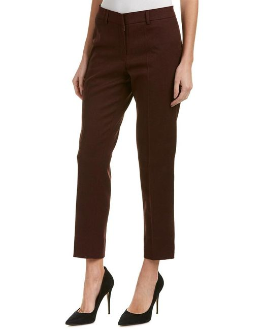 James Jeans - Red Rouge Noir Flannel Ankle Trouser - Lyst