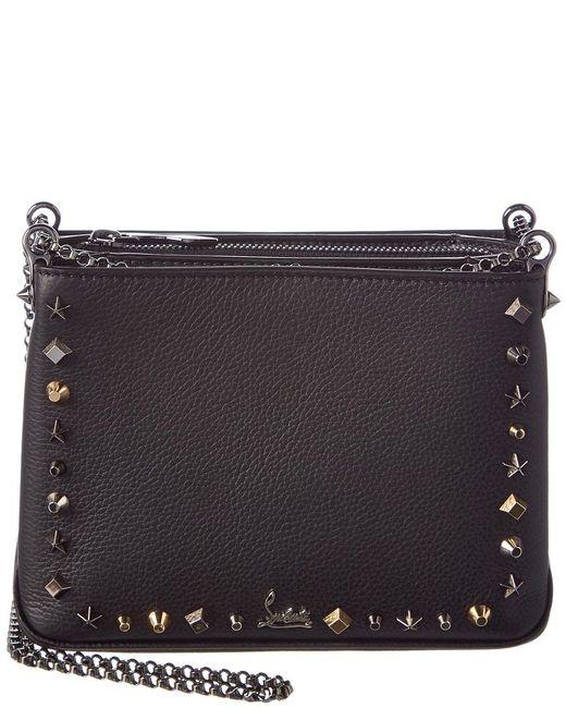 f48bbde2d31 Women's Black Triloubi Small Leather Chain Shoulder Bag