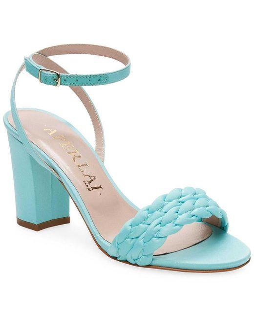 Aperlai - Blue Braided Heel Sandals - Lyst