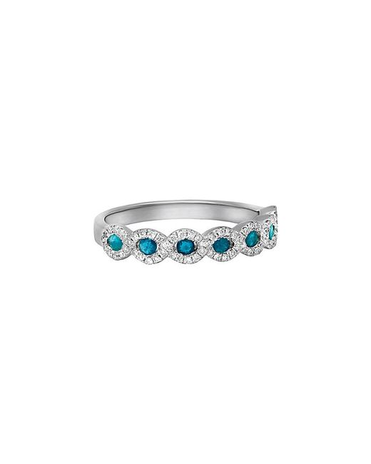 Diana M - . Fine Jewelry 14k 0.49 Ct. Tw. Diamond & Blue Sapphire Ring - Lyst