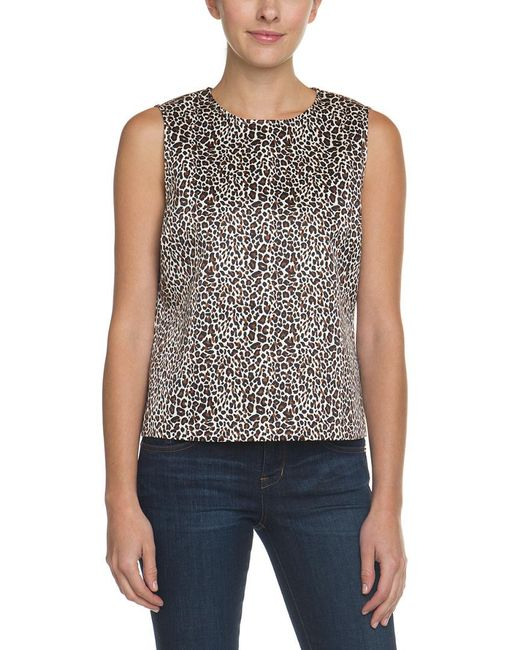 C. Wonder - Multicolor C. Wonder Classic Cheetah Natural Sleeveless Top - Lyst