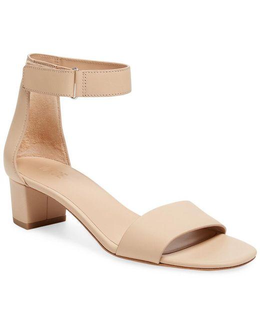Vince - Natural Rita Leather Block Heel Sandal - Lyst