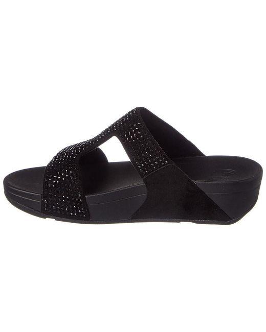 3375751a7b26 Lyst - Fitflop Rokkit Slide Sandal in Black - Save 43%