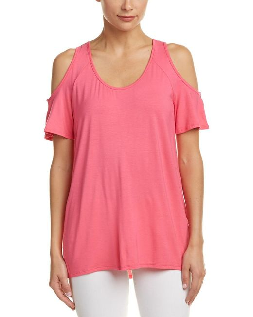 Kut From The Kloth - Pink Cold-shoulder Top - Lyst