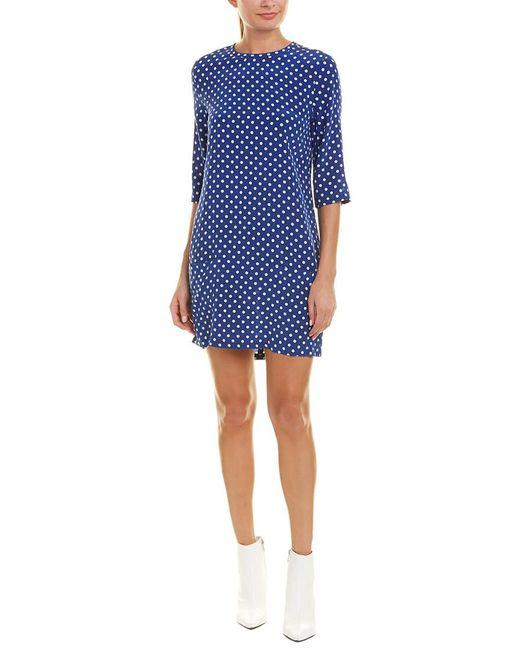 Equipment - Blue Aubrey Silk Shift Dress - Lyst