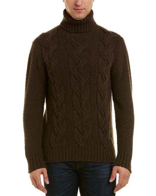 Lyst Turnbull Asser Cashmere Turtleneck Sweater In Brown For Men