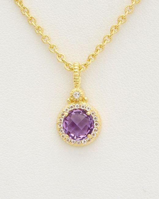 Judith Ripka - Metallic 14k Over Silver 1.47 Ct. Tw. Gemstone Necklace - Lyst
