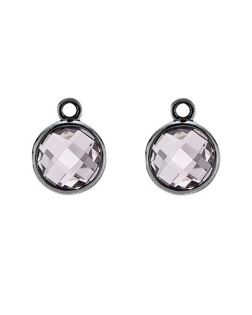 Pandora - Metallic Elegance Silver Amethyst Earring Charms - Lyst