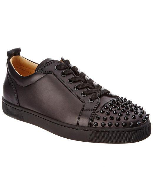 798abe5b508 Christian Louboutin - Black Lois Junior Spikes Leather Sneaker for Men -  Lyst ...