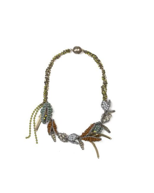 Tataborello | Metallic Summer Place Beaded Floral Necklace 22 | Lyst