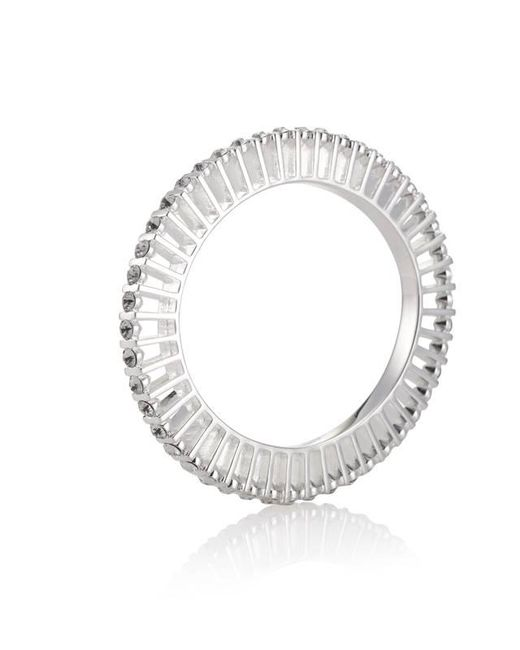 Yael Salomon - Metallic Ella 10 Silver And Crystal Bangle - Lyst
