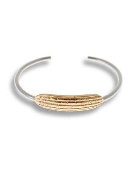 Hissia | Metallic Gold And Rhodium Luna Bracelet | Lyst