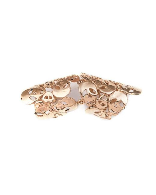 Bernard Delettrez | Metallic Articulated Skulls Bronze Ring | Lyst