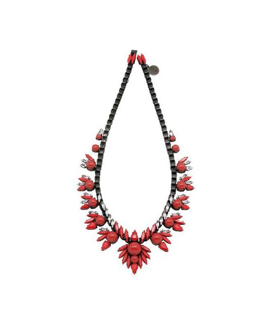 Ellen Conde | Red Ruby Khloè Necklace | Lyst