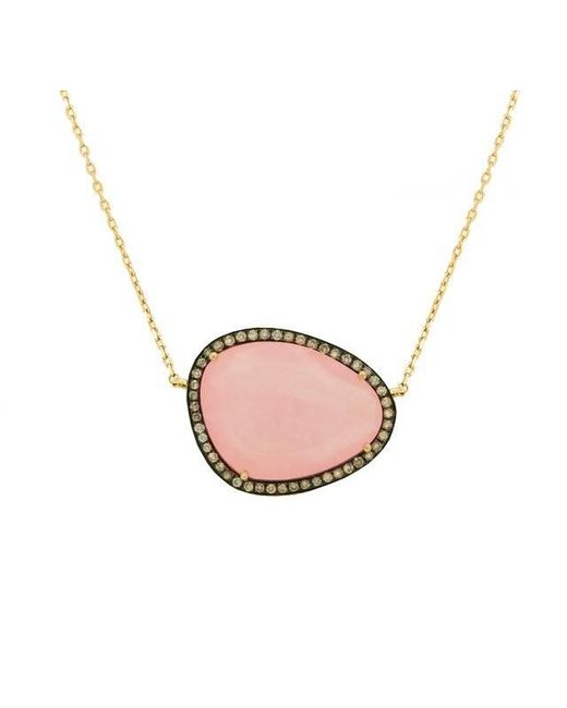 Christina Debs | Hard Candy Pink Jade And Diamond Necklace | Lyst
