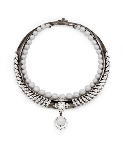 Ellen Conde | White Michele Grey Necklace | Lyst