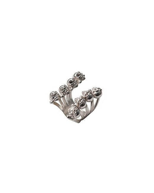Bernard Delettrez | Metallic Eight Skulls Silver Ring | Lyst