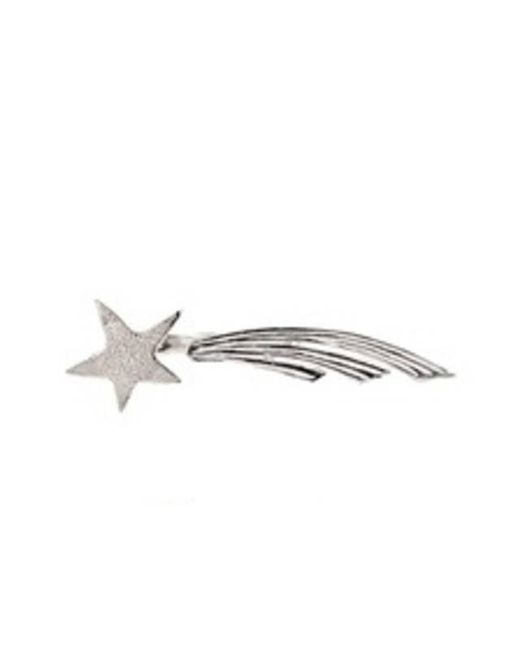 Bernard Delettrez | Metallic Shooting Star Silver Two Finger Ring | Lyst