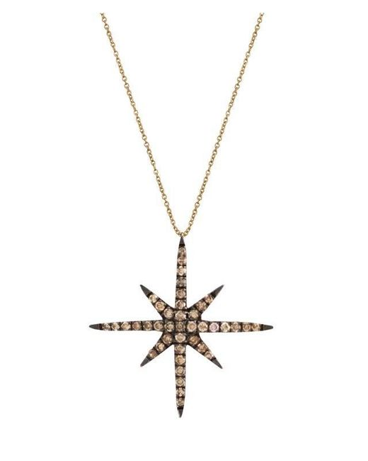 Christina Debs | Brown Starlight Gold And Diamond Pendant | Lyst