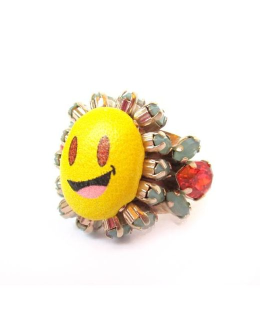 Bijoux De Famille | Yellow Simley Ring | Lyst