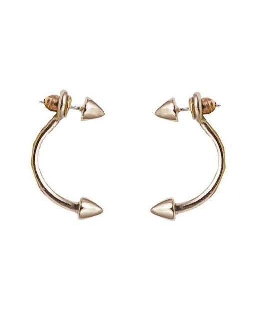 Bernard Delettrez | Metallic Bronze Double Stud Earrings | Lyst