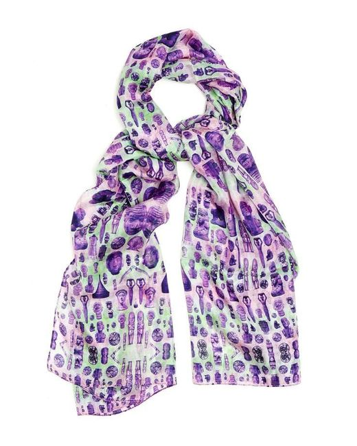 Kekkai | Purple Ancient Reflections 1 Silk Scarf | Lyst