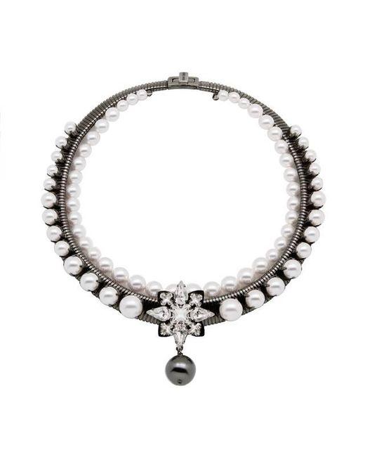 Ellen Conde - White Bonnie Classic Necklace - Lyst
