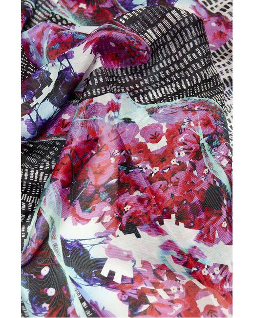 Kekkai | Pink Spinning Flower Torsos Silk Scarf | Lyst
