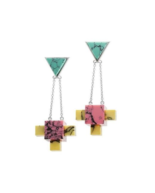 Eshvi | Multicolor Back To School Marble Chandelier Earrings | Lyst
