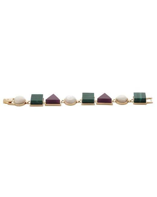 Eshvi | Multicolor Back To School Malachite Link Bracelet | Lyst