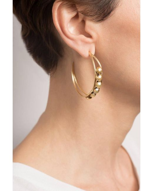 Hissia | Metallic Chloe Hoop Earrings In Gold | Lyst