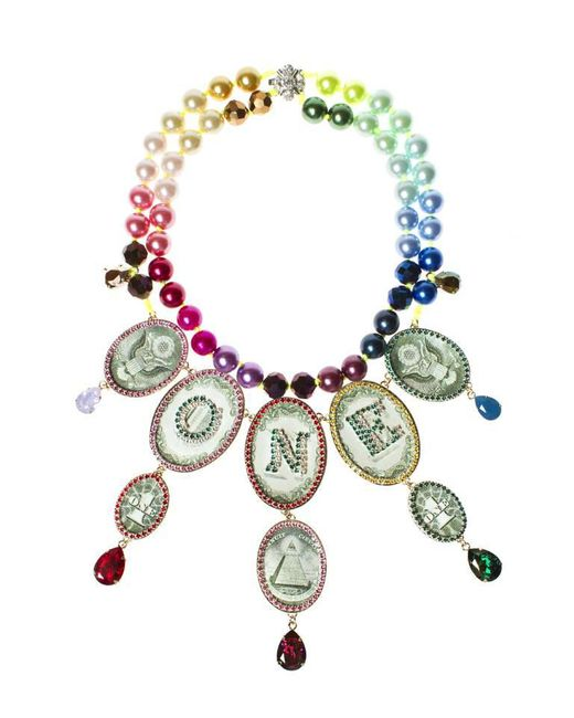 Bijoux De Famille | Multicolor Rainbow One Dollar Chandelier Necklace | Lyst