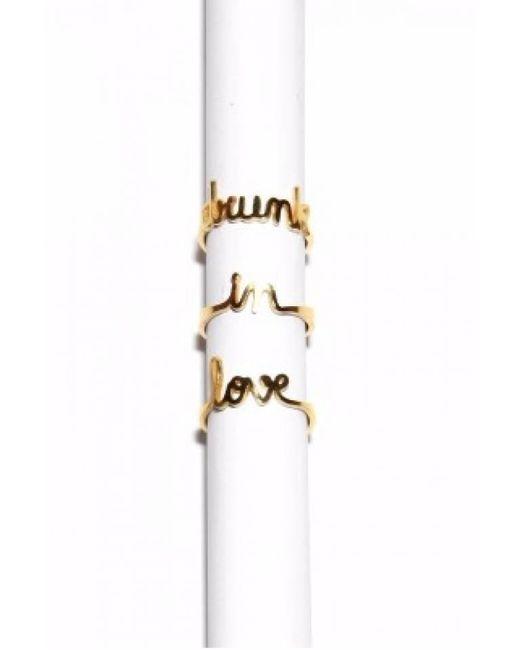 Vanina | Metallic Drunk In Love Gold Plated Ring Set | Lyst