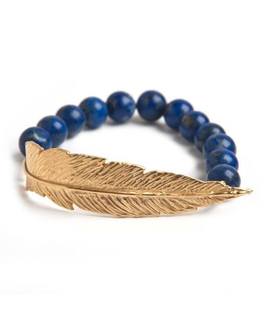 Leivan Kash   Multicolor Gold Feather Bead Bracelet   Lyst