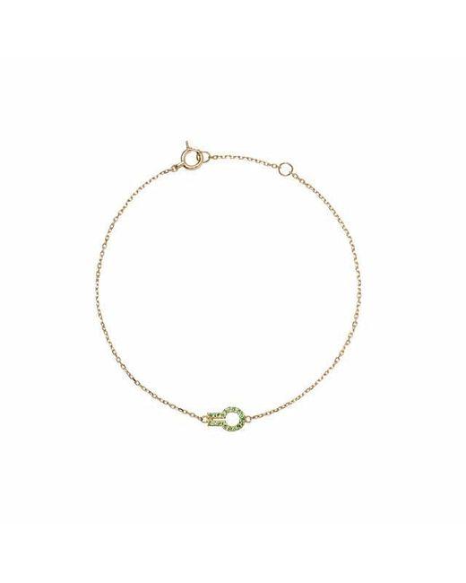 Liza Belachew | Metallic Magic Window Gold And Green Tsavorite Bracelet | Lyst