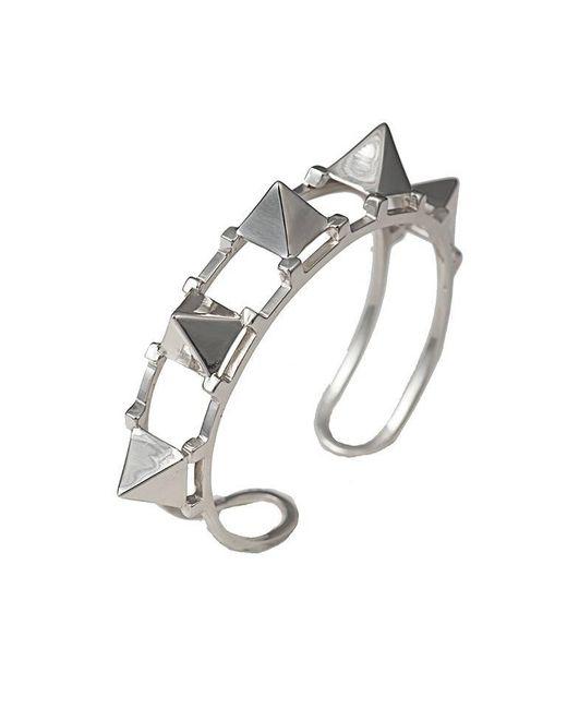Bernard Delettrez | Metallic Five Pyramid Silver Cuff | Lyst