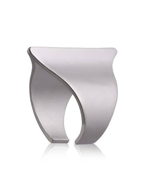 Yael Salomon | Metallic Sharp 08 Gunmetal Ring | Lyst
