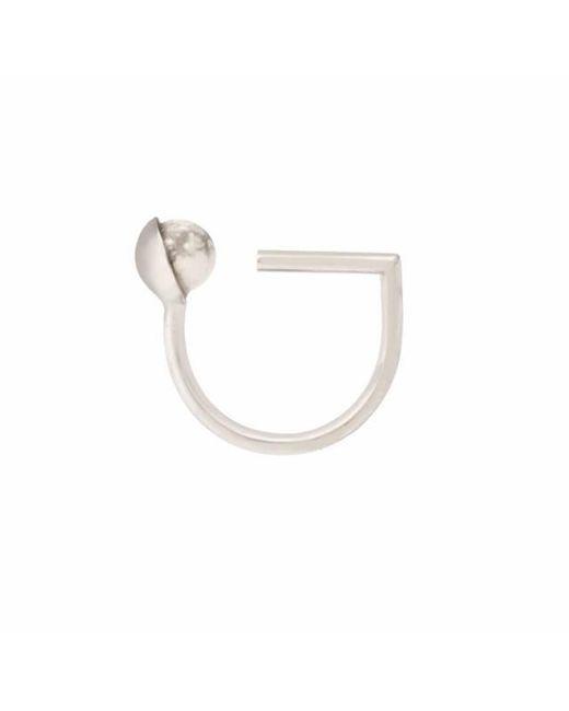 Leivan Kash | Multicolor Mati White Rhodium Midi Ring | Lyst