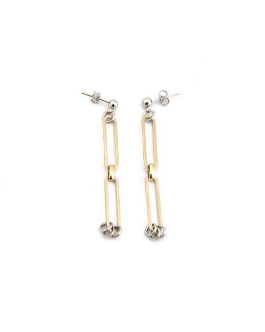 Justine Clenquet - Metallic Pixie Two-tone Earrings - Lyst