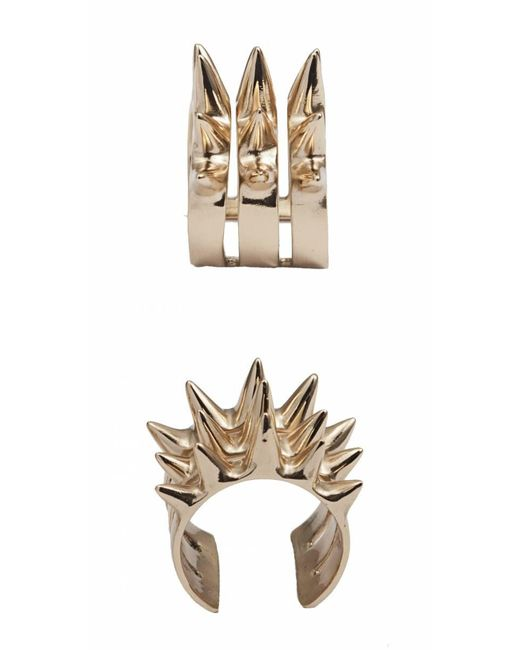 Bernard Delettrez | Metallic Triple Spike Bronze Ring | Lyst
