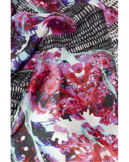 Kekkai - Pink Spinning Flower Torsos Silk Scarf - Lyst