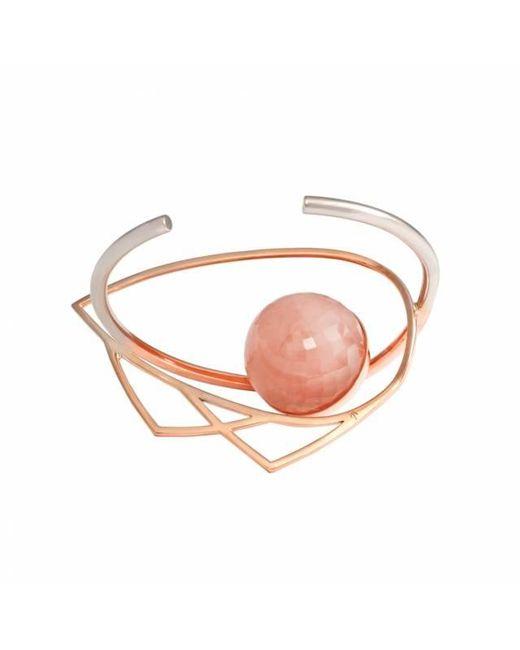 Leivan Kash   Pink Ayn Rose Quartz Cuff   Lyst