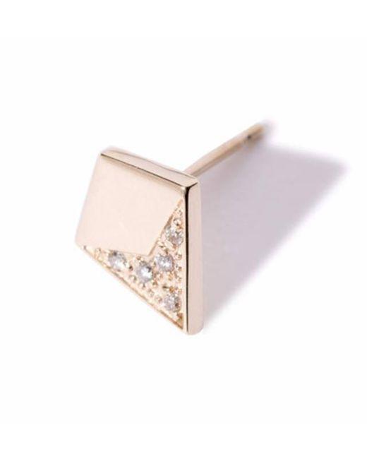 Liza Belachew   Metallic Share The Art Diamond No2 Single Earring   Lyst