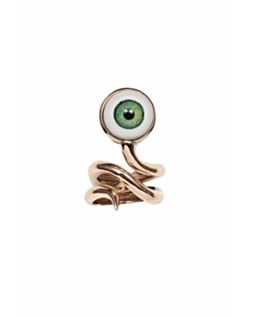 Bernard Delettrez | Metallic Bronze Snake Ring With Eye | Lyst