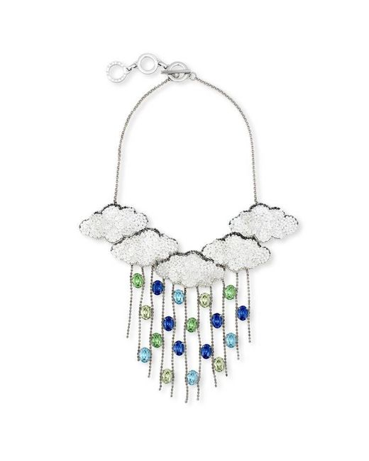 Forest Of Chintz | Metallic Silver Lining 5 Clouds Necklace | Lyst