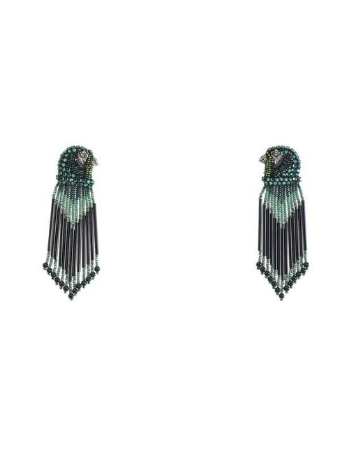 Forest Of Chintz | Green Jeweled Emerald Falcon Earrings | Lyst