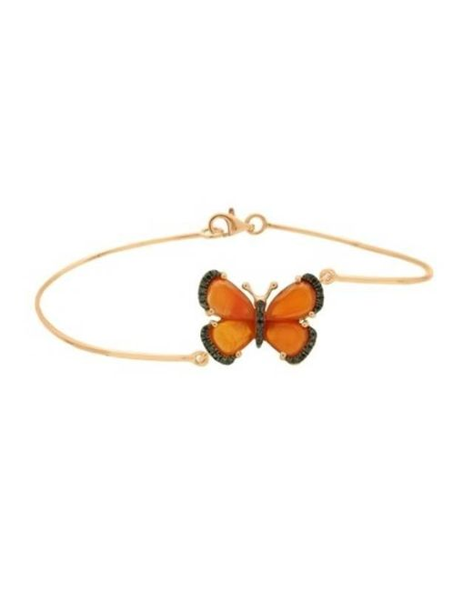 Christina Debs - Black Butterfly Gold And Diamond Bracelet - Lyst