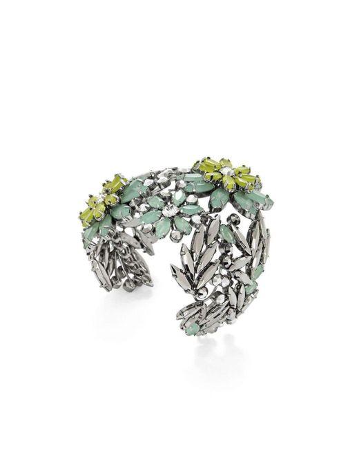 BCBGMAXAZRIA | Multicolor Bcbg Maxazria Floral Stone Cuff Bracelet | Lyst