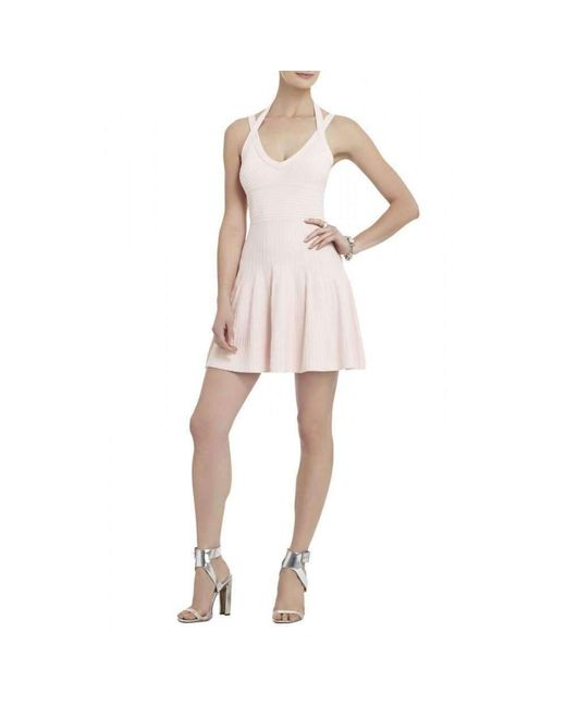 BCBGMAXAZRIA - Pink Bcbg Maxazria Elizabeth Ottoman Stitched Dress Lhl65a93-667 - Lyst
