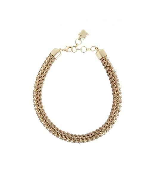 BCBGMAXAZRIA - Metallic Bcbg Maxazria Woven Box Chain Necklace - Lyst